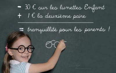 -30€ sur les lunettes enfants